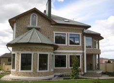 проект двухэтажного кирпичного дома до 200 кв. м.