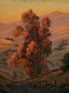Northern California Landscape painting, Eucalyptus tree, Sonoma county, www.terrysauve.com