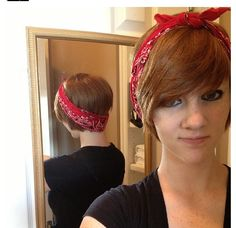 Hairstyles With Bandana Glamorous Pretty Hair With Bandana  Short Hair Don't Care  Pinterest