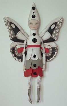 Fairy-- Original Contemporary Folk Art Doll-- Made to Order within a Week