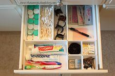 organized bathroom drawers                                                                                                                                                                                 More