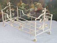 Adorable Vintage French Folding Wrought Iron Doll s Bed - Bed Lifts, Bed Stand, French Bed, Vintage Display, Girls Dream, Wrought Iron, French Vintage, Little Girls, Shabby Chic