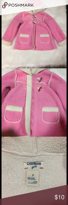 ✨ Girls Pink Coat ✨ Very super cute OshKosh coat for little girls!! Great condition. Worn gently!! No tears or stains. Osh Kosh Jackets & Coats