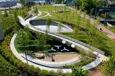 Beautifully intricate design in downtown Nashville. #landarch #urbandesign