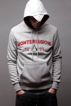 Officially licensed Assassin's Creed (Ubisoft) video game hoodie - Monteriggioni Auditore Grey
