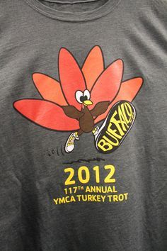 902fccd29 2012 Turkey Trot t-shirt, designed by Ryan Thompson of North Tonawanda, NY.