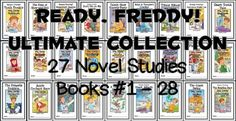 Ready, Freddy! Ultimate Collection (Abby Klein) 27 Novel Studies : Books #1-27 * Follows the Common Core Standards *  This Ready, Freddy! Ultimate Collection contains 27 Novel Studies from the Ready, Freddy! series by Abby Klein. In total, there are 694 pages. Each Novel Study is a PDF in booklet-style format.  This download includes Novel Studies for books 1 through 27 of the excellent Ready, Freddy! series: #1 - Ready, Freddy! Tooth Trouble #2 - Ready, Freddy! The King of Show-and-Tell #3…