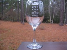 Hey, I found this really awesome Etsy listing at http://www.etsy.com/listing/123668307/personalized-wine-glass-keep-calm-and