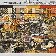 New! Happy Haunt and You + Me Mobile Ready Font #scrapbook #digiscrap