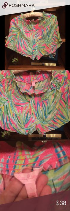 Lilly Pulitzer shorts Lovely, from 2017 runway shorts Lily Pulitzer Shorts Skorts