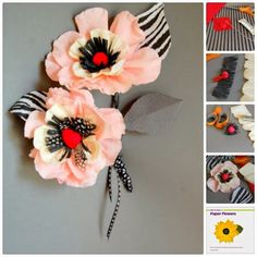 Paper Flower Tutorial Craft Recap