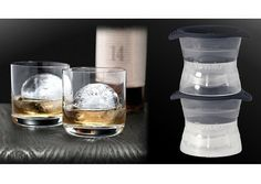 Cubitos de hielo redondos que mantiene más tiempo las bebidas frías