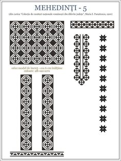 Semne Cusute: ie din Medehinti, OLTENIA Folk Embroidery, Embroidery Patterns, Cross Stitch Patterns, Knitting Patterns, Hama Beads, Beading Patterns, Pixel Art, Projects To Try, Traditional
