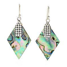 """Artisan Silver by Samuel B. 2"""" 35 x 22mm Gemstone Doublet or Triplet Drop Earrings"""