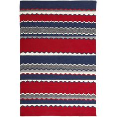 Red Stripe Rug - 5x8