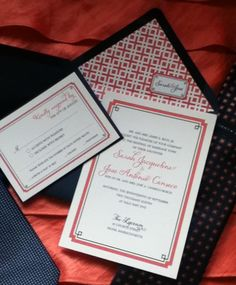 Invitations by Fourth & Folded  www.fourthandfolded.com  Designed in Navy and Coral