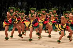 dancers at 2012 Merrie Monarch in Hilo, Hawaii