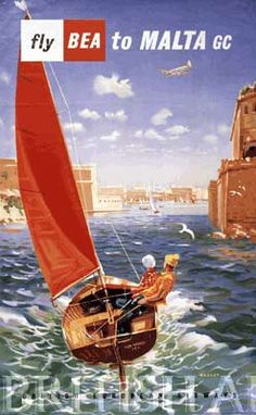 malta vintage travel poster - Google Search