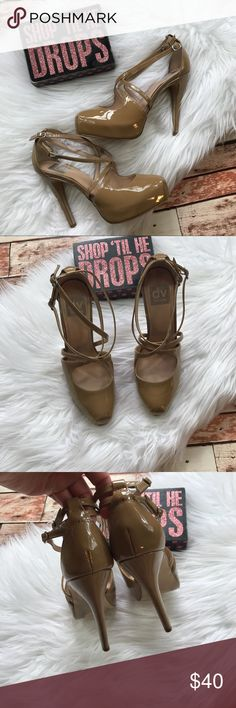 Dolce vita nude strappy pumps Size 6.5 in excellent pre owned condition! Super adorable for this spring! Heel height is 4.5 inches. ***No modeling or trades! DV by Dolce Vita Shoes Heels