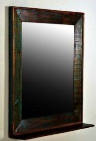 Reclaimed Wood Mirror From Seven Wonders Furniture   RECMIR32