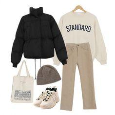 Korean Outfits, Retro Outfits, Stylish Outfits, Fall Outfits, Vintage Outfits, Cute Outfits, Korean Fashion Winter, Korean Street Fashion, Asian Fashion