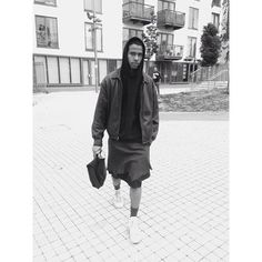 @DAOUDAKA WEARING OPES AW16 RAW CUT LEATHER SKIRT. LONDON. 29TH MAY 2016. #ashestoblack#ashestoblackclothing#menswear#mensfashion#mensstyle#style#fashion#fashiondesigner#fashiondesign#london#onset#bts#meninskirts#leather#streetwear