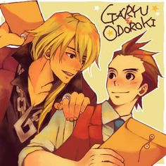 I really like these two! Not to mention that the first thing Klavier ever said to Apollo, about Apollo, was super gay lol