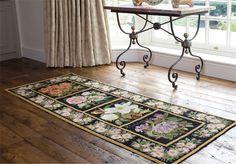 Love this Elizabeth Bradley needlepoint rug.