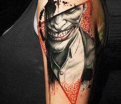 Joker tattoo by Michael Cloutier