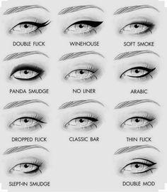 Si vous voulez vous la jouer niveau eye-liner, voici 11 façons de varier les plaisirs. | 21 astuces de maquillage que toutes les débutantes devraient connaître