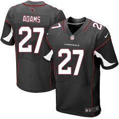 Men Nike Arizona Cardinals #27 Michael Adams Elite Black Alternate NFL Jersey Sale