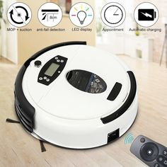 Warmtoo White Automatical Dust Mopping Robot Auto Floor Vacuum Cleaner Robot Smart Robotic with Big Suction Power Cleaning Appliances, Home Appliances, Robot, Flooring, Big, Articles, Tech, Style, House Appliances