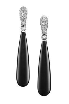 Cannes 2015: Les boucles d'oreilles Gocce De Grisogono en onyx de Natalie Portman