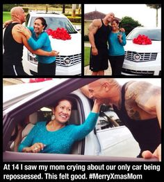 """""""At 14 I saw my mom crying about our only car being repossessed. This felt good."""" --- Dwayne Johnson aka The Rock The Rock Dwayne Johnson, Rock Johnson, Dwayne The Rock, My Rock, Fast And Furious, Diesel, Johnson Family, Star Wars, Normal Person"""