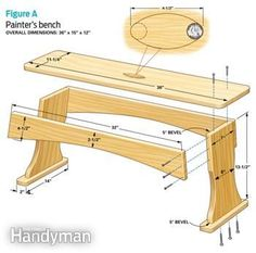 Painter's bench details