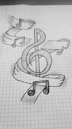 Music – Graffiti World Easy Pencil Drawings, Art Drawings Sketches Simple, Pencil Sketch Drawing, Love Drawings, Pencil Drawing Inspiration, Hipster Drawings, Music Drawings, Graffiti Drawing, King Diamond