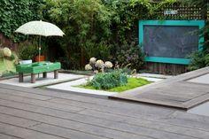 jardin Feng Shui avec aire de jeux à l'Ouest pour les Enfants