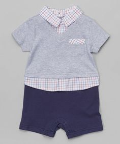 Another great find on #zulily! Blue Polo Romper - Infant by Wendy Bellissimo #zulilyfinds