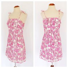 bbae19c05696 Vintage 90s Lilly Pulitzer Night Owl Print Dress Glow in the Dark 1990s  Pink Cotton Frock Novelty Print Summer Day Dress Size Small Sundress