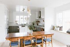 White Herringbone Tiles Kitchen | Fireclay Tile | Fireclay Tile Bathroom Floor Tiles, Kitchen Tiles, Kitchen Cabinets Grey And White, Herringbone Tile Pattern, New Bathroom Designs, Fireclay Tile, Yellow Walls, Style Tile, Interior Photo