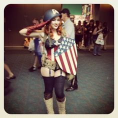 DIY Captain America costume for women. Pin Up Girl Halloween::: Pin Up Costumes: