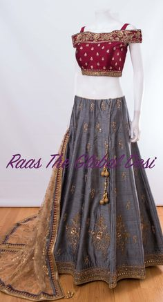 CHANIYA CHOLI 2019 Latest designer & custom-made Lehenga Choli online online.Browse our beautiful designer collection -featuring unique designs & embroidery! Available now in the USA, Canada & Australia! Dress Indian Style, Indian Fashion Dresses, Indian Designer Outfits, Indian Wear, Designer Dresses, Half Saree Lehenga, Lehnga Dress, Lehenga Gown, Blue Lehenga