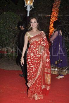Sonakshi Sinha, Juhi Chawla and Dia Mirza at Ahana Deol's Wedding Reception | PINKVILLA