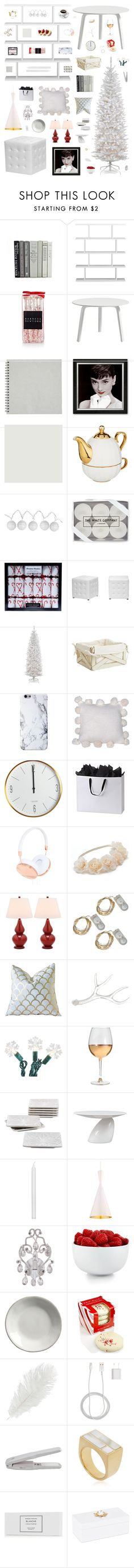 """""""Modern Retro & White Christmas Decor"""" by belenloperfido ❤ liked on Polyvore featuring interior, interiors, interior design, casa, home decor, interior decorating, CB2, FREDS at Barneys New York, HAY e Room Essentials"""