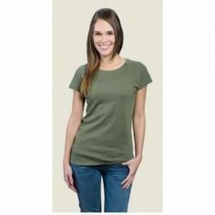 Bamboo Short Sleeve Shirt Womens - Army Green: Nuts n Twigs; Love this color!
