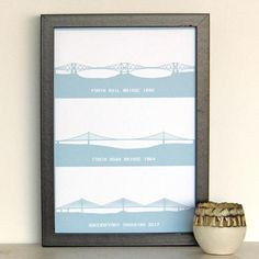 Queensferry Crossing print Forth Bridge Print minimalist Gifts For History Buffs, Pictures Of Bridges, Scottish Decor, Ribba Frame, Eco Friendly Paper, Handmade Shop, Thoughtful Gifts, Gifts For Dad, At Least