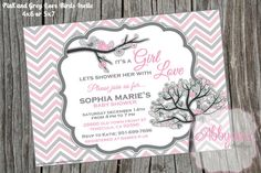 Lovebirds Baby Shower Invitation DIGITAL FILE PERSONALIZED on Etsy, $6.00