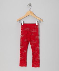 This Red Floral Lace Leggings - Infant & Toddler is perfect! #zulilyfinds