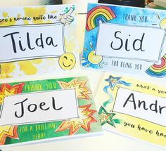 End of Term personal cards download — Rosie Johnson Illustrates