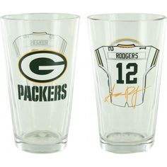 Show your allegiance every time you take a sip with this officially licensed pint glass. This pint glass from Boelter Brands holds approximately 16 ounces and displays your favorite team in a quality design. Aaron Rodgers Jersey, Green Bay Packers Merchandise, Pint Glass, How To Memorize Things, Football, Number, Logo, Soccer, Futbol